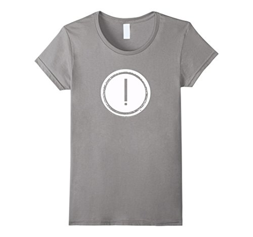 Mark Exclamation Costume (Womens Exclamation Mark Costume tshirt Medium)