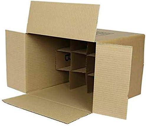 We Can Source It Ltd - Resistente Sólido Cartulina Botella de Vino Portador Correo - Cajas para 12 Botellas: Amazon.es: Hogar