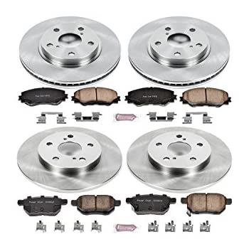 Fit 2000-2004 Toyota Avalon Front PSport Blank Brake Rotors+Ceramic Brake Pads