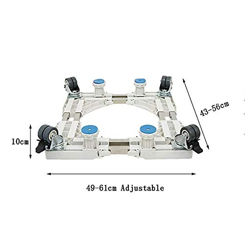 DESTRB Washing Machine Adjustable Trolley with 8 Wheels Size Adjustable Domestic Appliances Base for Your Washing Machine Refrigerator Washing Machine Floor Trays Home Appliance Base