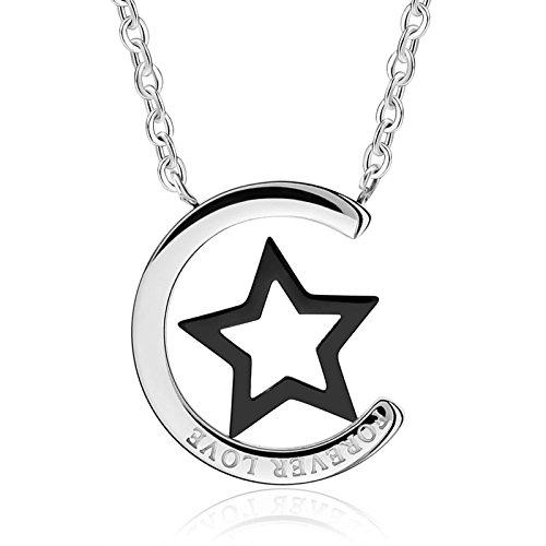 2a5853db9102 Daesar Colgante Collar Joyería Collar Colgante de Mujer y Hombre Crescent  Estrella