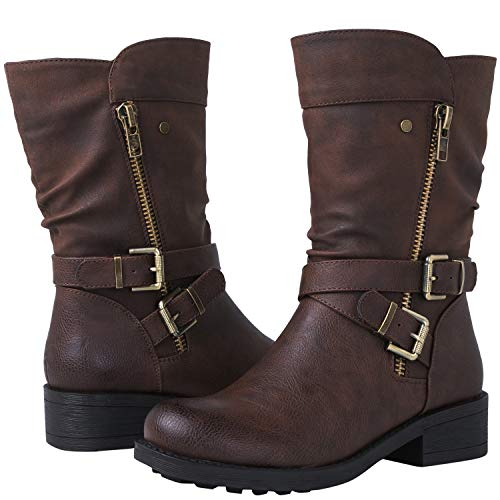 GLBALWIN Women's 18YY05 Brown Fashion Boots 8.5M