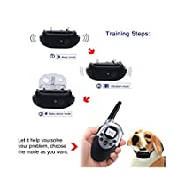 Trainer 1100 Yards Dog Training Collar with Remote for Small and Large Dogs Adjustable Shock, Vibration, Sound Stimulation Rechargeable / Waterproof Enhance your Pet Training with Advanced Bark Collar (For 2 Dogs)
