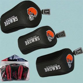 NFL Cleveland Browns 3 Pack Mesh Longneck Headcover