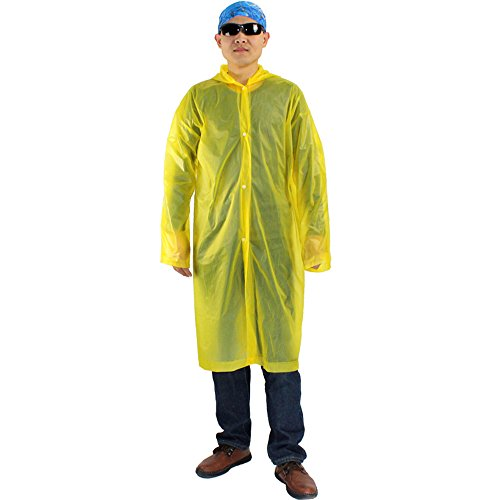 10 Pack Disposable Poncho Portable Raincoats with Hat Cap,Random (Rain Topper)