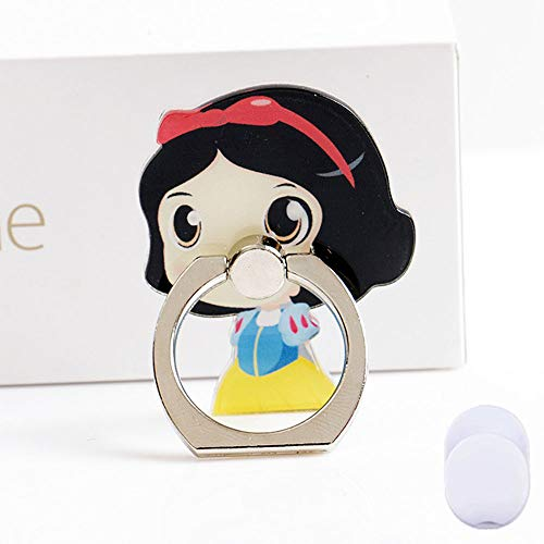 ZOEAST(TM) Phone Ring Grip Grimm Fairytale Seven Dwarfs Snow White Princess Universal 360° Adjustable Holder Car Hook Stand Stent Mount Kickstand Compatible all iPhones Samsung Pad Tablet (Snow -