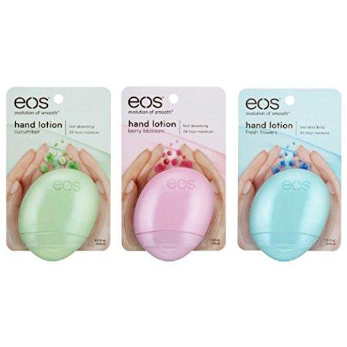 eos Hand Lotion Bundle - Cucumber 1.5 fl oz, Berry Blossom 1.5 fl oz, & Fresh Flowers 1.5 fl oz