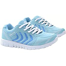 DUOYANGJIASHA Womens Athletic Mesh Breathable Casual Sneakers Lace Up Running Comfort Sports Fashion Tennis Shoes Grey