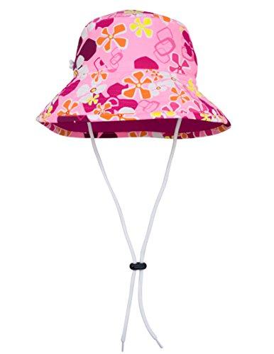 - Tuga Girls Reversible Bucket Sun Hat (UPF 50+), Misty Pink, Medium