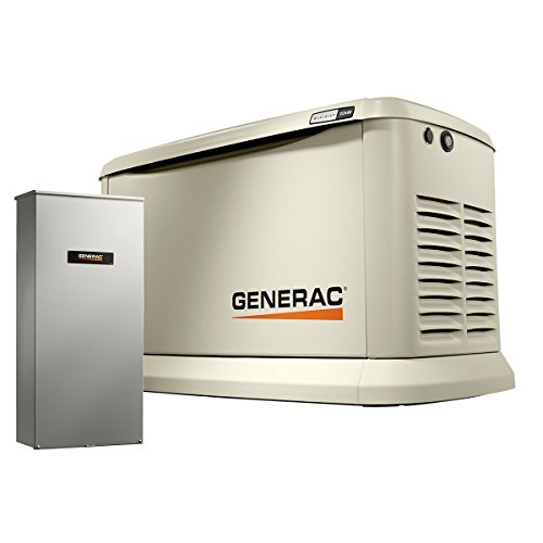 (Generac 70432 Home Standby Generator Guardian Series 22kW/19.5kW Air Cooled with Wi-Fi and Transfer Switch, Aluminum)
