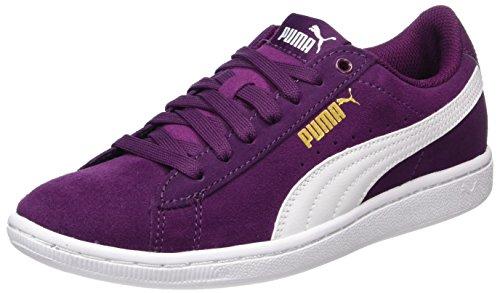 Puma Basse Donna Purple Dark Sneaker Vikky white Viola ww14vR