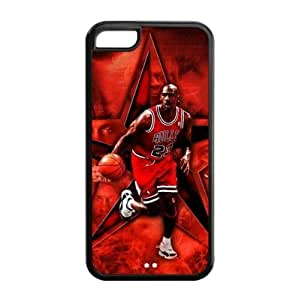 iPhone 5C TPU Case with Chicago Bulls Michael Jordan Graphic Image-by Allthingsbasketball