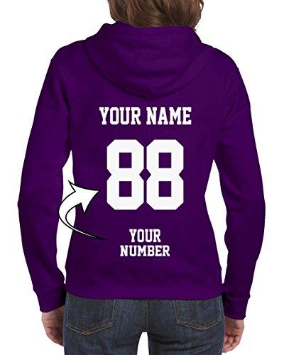 Design Your OWN Hoodie - Custom Jersey Full-Zip Hoodies for Women - Ladies' Zip Up Sweatshirts