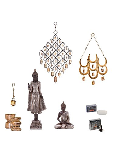 Zen Ultimate Gift Set - Stunning Asian-inspired Statue and Chime Collection