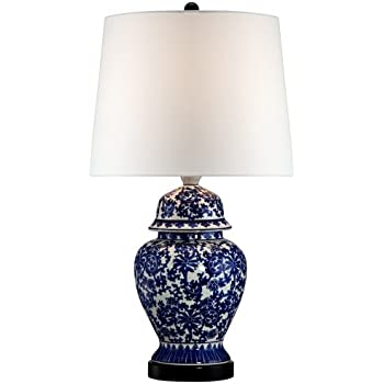 Bon Blue And White Porcelain Temple Jar Table Lamp