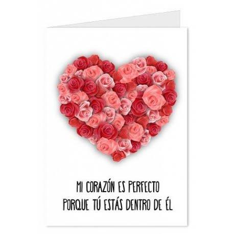 CGN Carta Cuore di Amore Fiori 15x23 cm