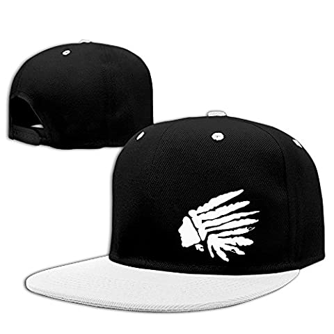 American Indians Funny Logo Design Badge Hip Hop Cool Snapback Hat Style White (Native American Funny)