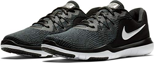 NIKE Womens Flex Supreme tr 6 Low Top Lace up Running Shoe (6.5 B(M) US, Black/White-Anthracite)