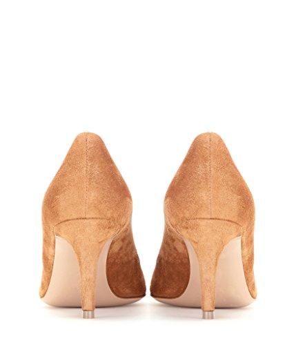 EDEFS Femme Heel Bureau Classique Kaki cm Shoes Kitten Chaussures Fermé Pointu 6 Bout Soiree Escarpins BBxwrCq5f