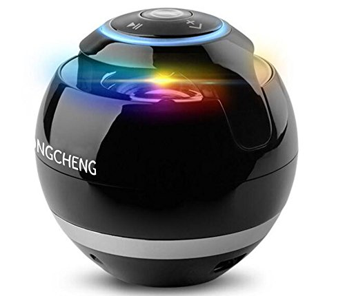 Yongcheng Bluetooth Speakers,Mini Portable Wireless Bluetooth Stereo Speaker with 8-Hour Playtime, Handsfree Calling, Design for iPhone 7/7plus/Samsung S8 plus/Note 8/LG/iPad/Tablet/Echo dot(Black)