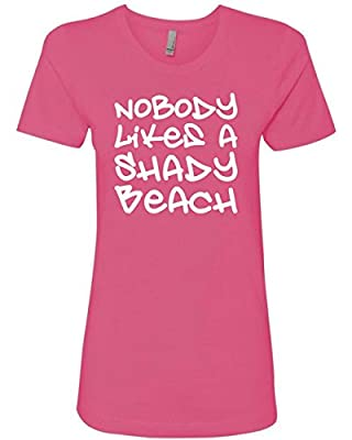 'Nobody Likes A Shady Beach' Juniors Fitted Funny T-Shirt Tank