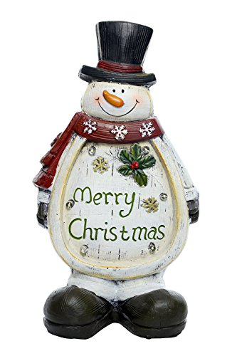 Alpine Corporation Christmas Snowman Light Up Statue Decor- ()