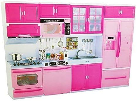 6f395acfe55e4f Unbekannt Cucina delle Bambole con Accessori/Cucina Gioco Accessori 4 in 1