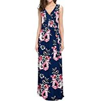ACEFAST INC Womens Maxi Dresses Long Casual Summer Floral Dress Party Boho Formal Dresses