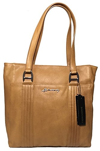 B. Makowsky Quilted N/S Tote, Hazelnut, BM42345, used for sale  Delivered anywhere in USA