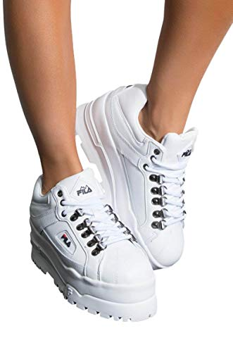 FILA Trailblazer Wedge Platform Sneaker In White-WHITE_11 -