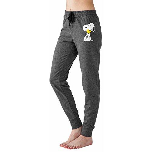 Peanuts Snoopy Charlie Brown Woodstock Women's Juniors Jogger Pant Legging Yoga Pants Grey