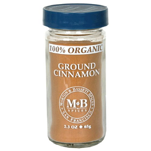 Morton & Bassett Organic Ground Cinnamon, 2.2-Ounce Jars (Pack of 3)