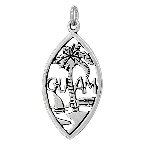 Sterling Silver Guam Word Pendant
