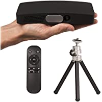 SABRE D2 Black 500 Lumens LED Pocket Projector, Home Theater Video Projector HD