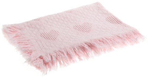 Lowest Price! Faribault Mills Baby Hearts Crib Blanket, Pink