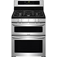 Frigidaire FGGF304DPF Gallery 30 Stainless Steel Gas Sealed Burner Double Oven Range