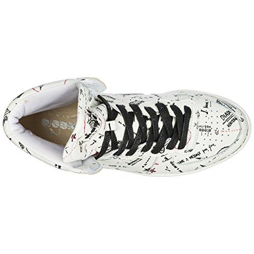 Diadora Heritage Scarpe Sneakers Alte Uomo in Pelle Nuove Mi Basket Biro Bianco Estilo De Moda La Venta Barata UT7aO3MW