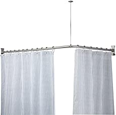 standard u0026 trackstyle shower curtain rods amazoncom