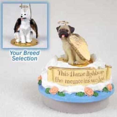 (OKSLO German Shepherd White Candle Topper Tiny One Pet Angel Ornament)