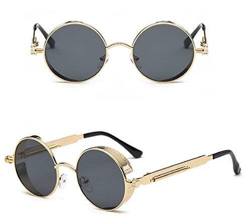 Oro Gafas Cybe Mujer Unisex Redondo de Retro Hombre sol Zrqx8H0Z