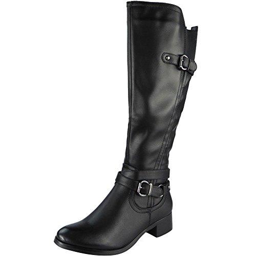 Ladies Below Knee Long Zip Heel Winter Rider Knee High Boots Size 3-8 Black 6Q1ZmbhtmM