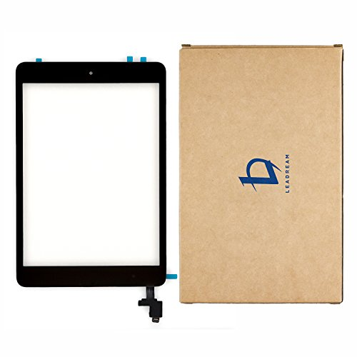 Black Glass Screen Digitizer Complete Full Assembly for iPad mini & mini 2 with IC Chip, Home Button, Adhesive