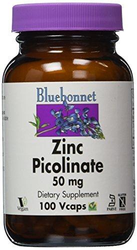 BlueBonnet Zinc Picolinate Vegetarian Capsules, 50 mg, 100 Count by Blue Bonnet