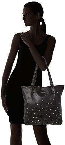 Tamaris - Itala Shopping Bag, Carteras de mano con asa Mujer, Schwarz (Black), 38x10x35 cm (B x H T)