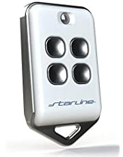 Starline Universele afstandsbediening 433 (433,92) MHz vaste code, gemaakt in de EU, bereik tot 200 m, nieuw programmeerbaar, geen rolling-code (wit) gemaakt in de EU