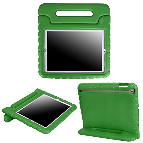 - HDE Case for iPad 2 3 4 - Kids Shock Proof Heavy Duty Impact Resistant Protective Cover Handle Stand for Apple iPad 2nd 3rd 4th Generation Tablet (Green)