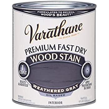 rustoleum 12 pint varathane fast dry wood stain weathered gray