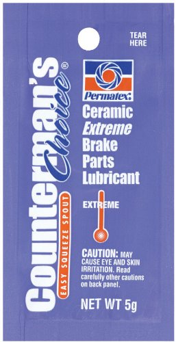 Permatex 09973-480pk Counterman's Choice Ceramic Extreme Brake Parts Lubricant, 5 g Pouch (Pack of 480) by Permatex