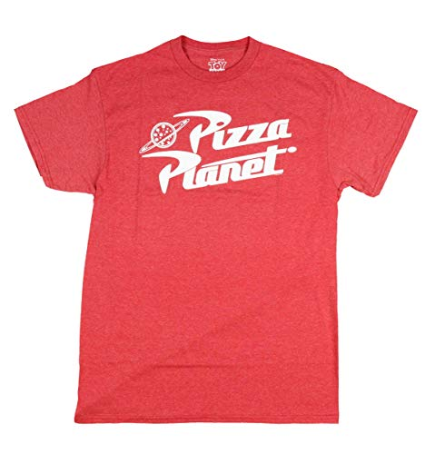 Toy Story Pizza Planet Delivery Adult T-Shirt (Large, Heather Red)