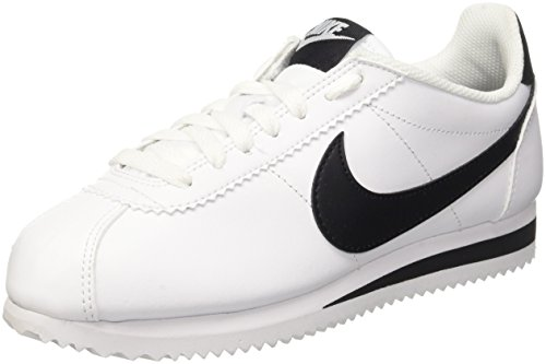Nike Womens Classic Cortez Leather White/Black/White Casual Shoe 7 Women US